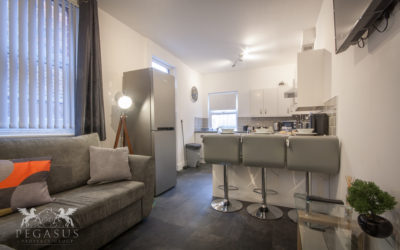 Mid terrace 3 to 6 bed HMO with roof and windows